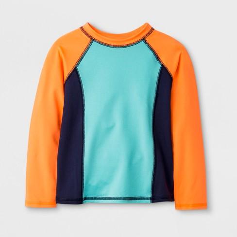 d1aba11c Toddler Boys' Long Sleeve Rash Guard - Cat & Jack™ Orange : Target