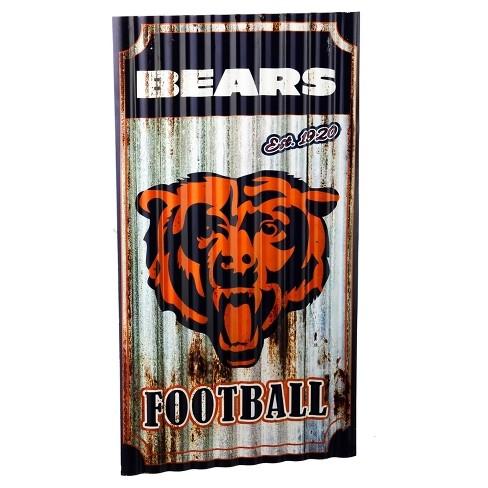 NFL Team Sports America Corrugated Metal Wall Art : Target