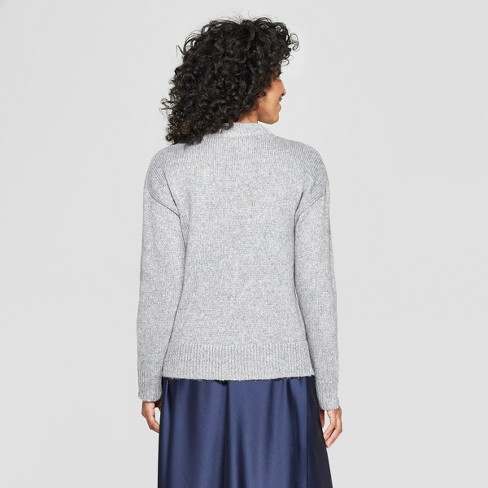 d807150ebce Women s Mock Neck Shine Pullover Sweater - A New Day™   Target
