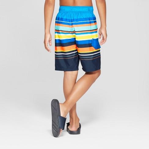9e32ec8c72 Boys' Multi Stripe Swim Trunks - Cat & Jack™ Blue : Target