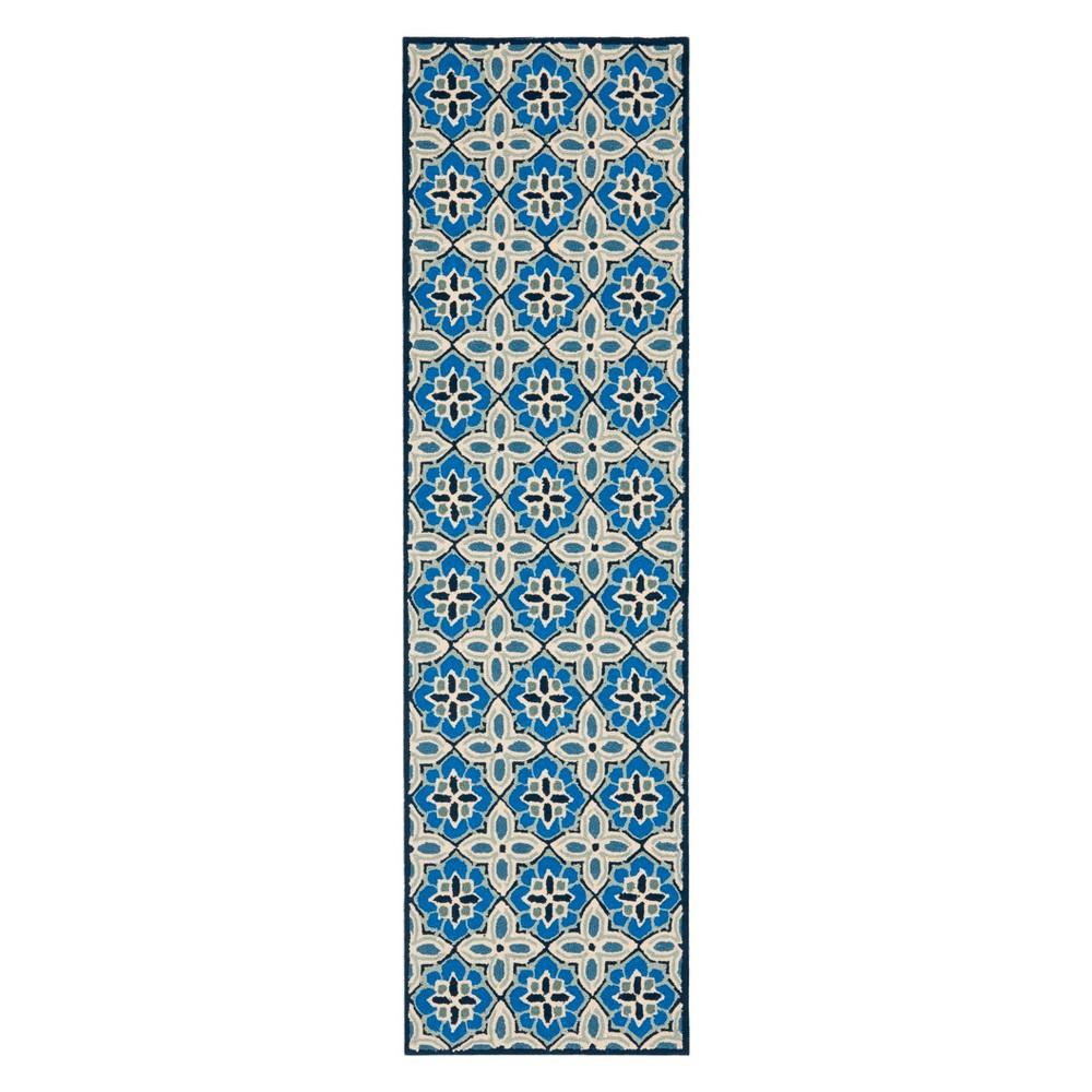 22X8 Floral Runner Blue - Safavieh Discounts
