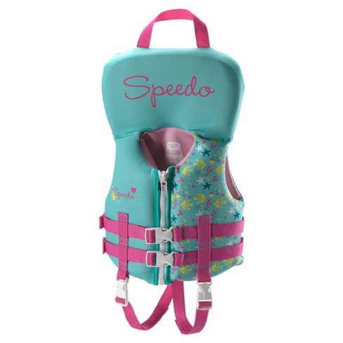 Speedo Infant Girls Neoprene Lifevest - Pink - image 1 of 2