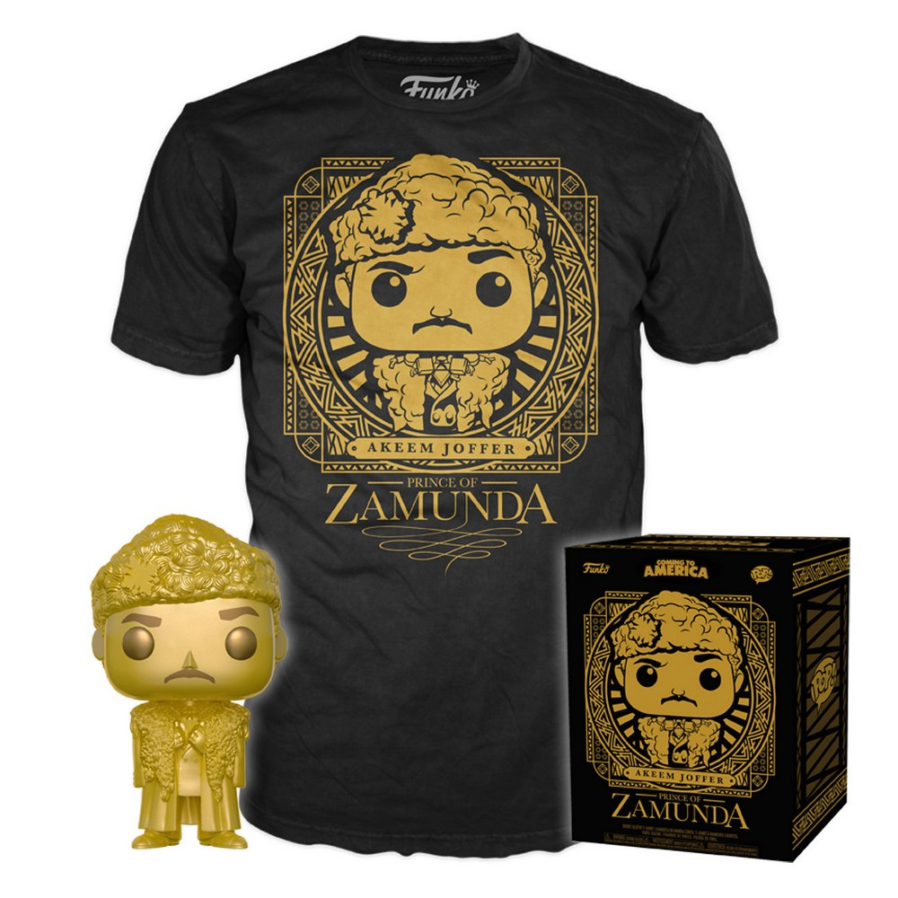 Funko Pop! Movies Collectors Box: Coming to America Pop! & T-Shirt - Black L