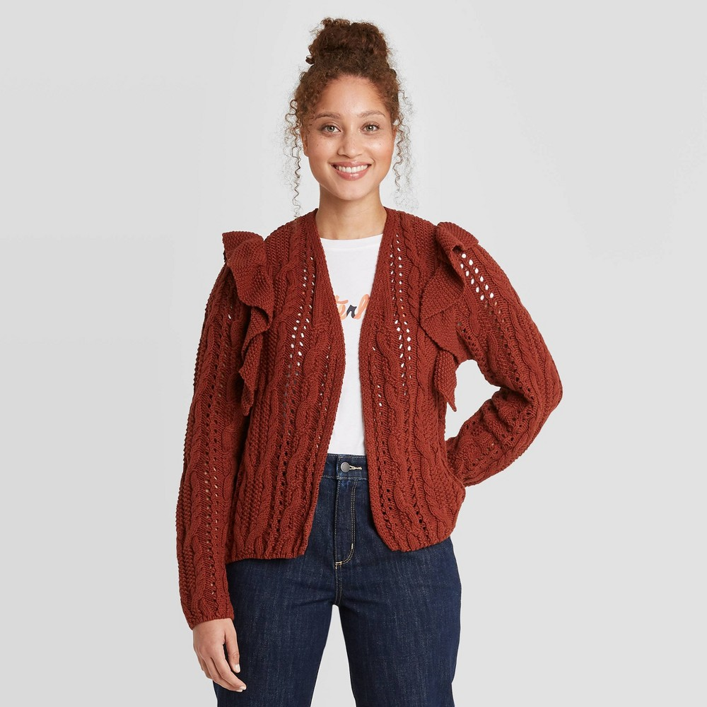 Discounts Women's  Ruffe Cardigan - Universa Thread™