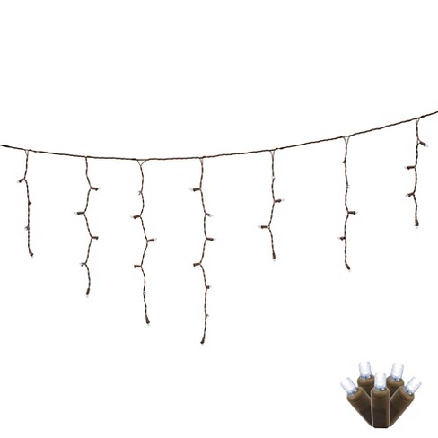 70ct LED Wide Angle Icicle String Lights EC 9' - Pure White - image 1 of 1