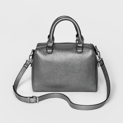 Adjustable Strap Satchel Handbag - A New Day™ Gunmetal