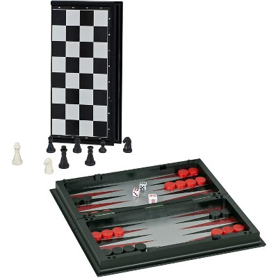 WE Games Magnetic 3-in-1 Combination Game Travel Set - 8 inches
