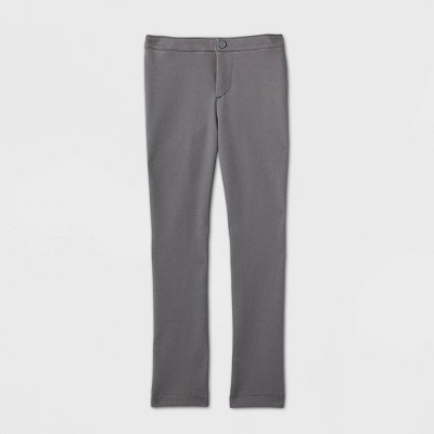 Girls' Stretch Uniform Ponte Pants - Cat & Jack™ Gray