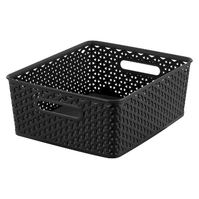 Y Weave Medium Storage Bin - Black - Room Essentials™