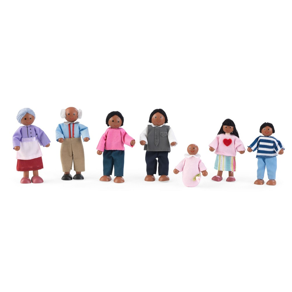 Kid Kraft Doll Family of 7 - African American