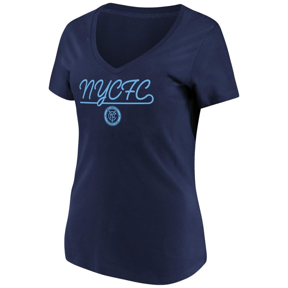 Mls Women's Short Sleeve V-Neck T-Shirt New York City FC - S, Multicolored