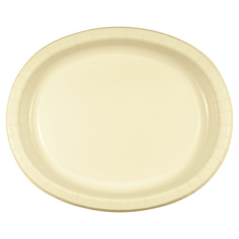 "Ivory 10"" x 12"" Oval Platters - 8ct - image 1 of 1"