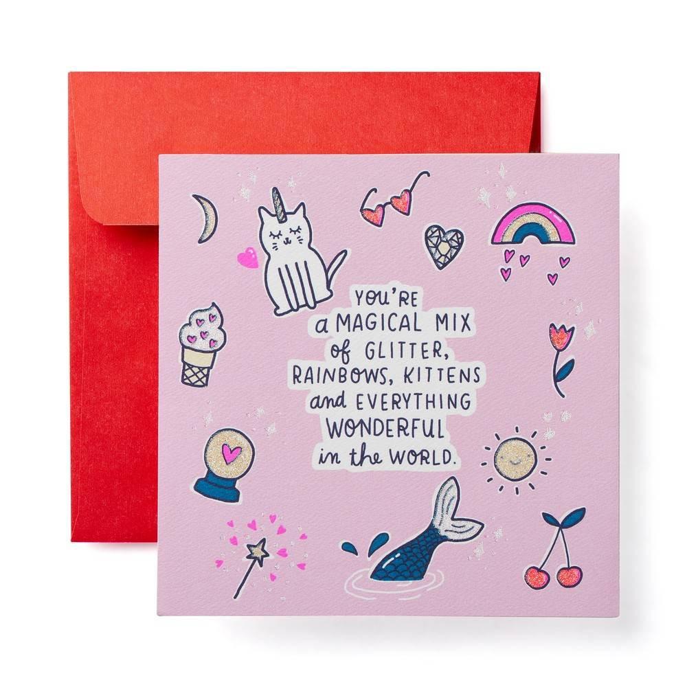 Magical Valentine's Day Card, Multi-Colored