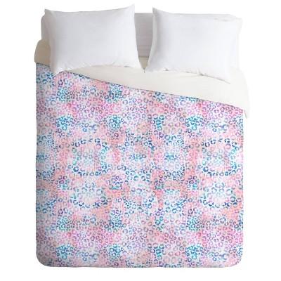 Schatzi Brown Leopard Comforter Set Pink