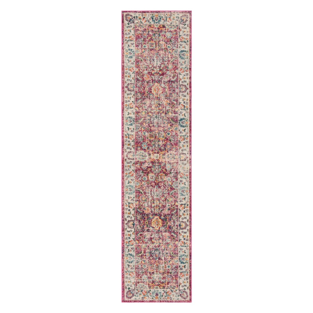 2X8 Floral Runner Red - Safavieh Coupons