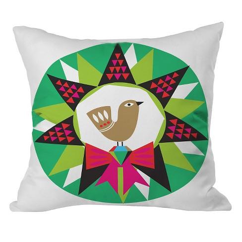 "20""x20"" Geo Pop Wreath Throw Pillow Green - Deny Designs - image 1 of 2"