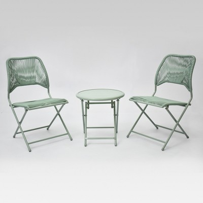 Fisher 3pc Folding Bistro Set - Green - Project 62™