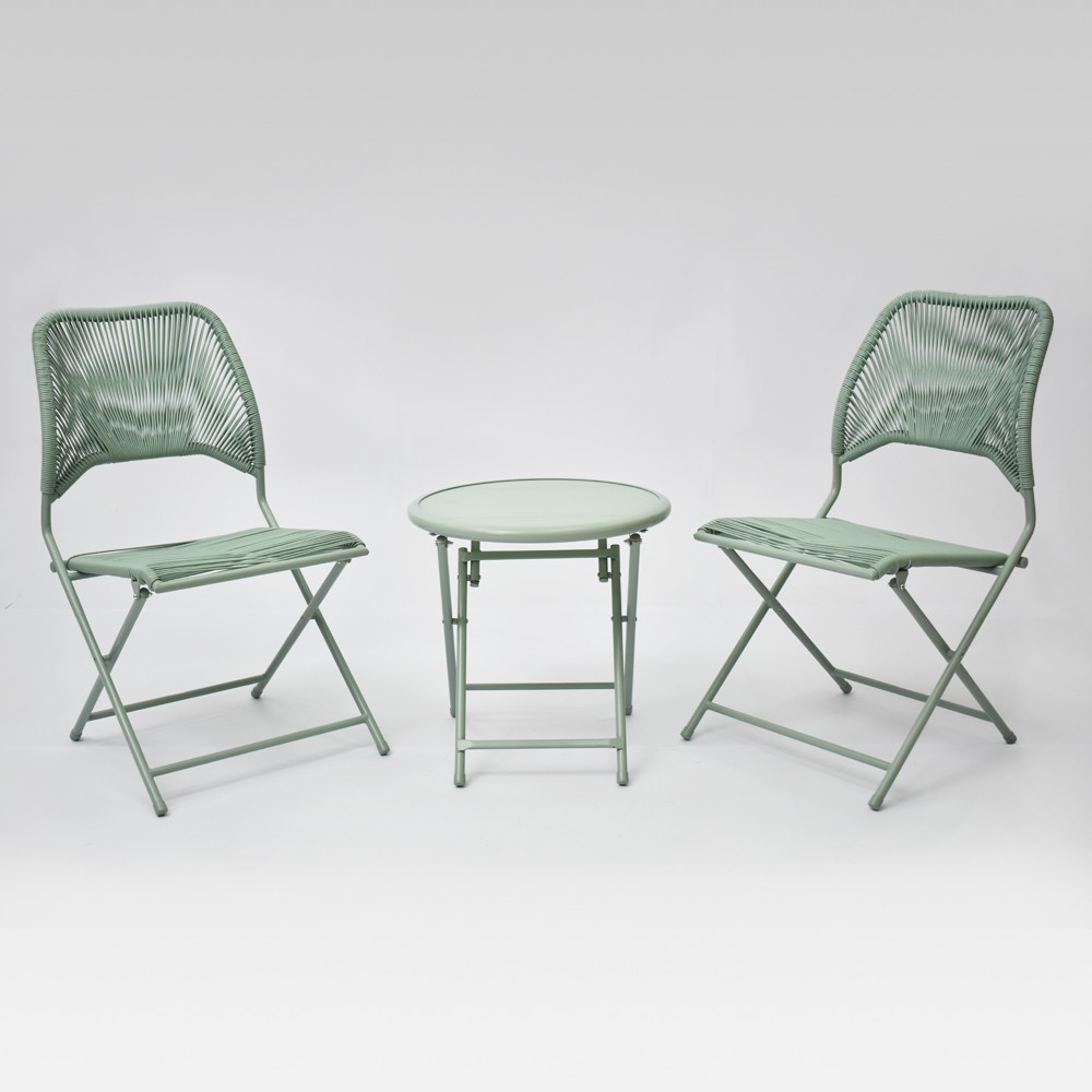 Fisher 3pc Folding Patio Bistro Set - Green - Project 62 was $200.0 now $100.0 (50.0% off)