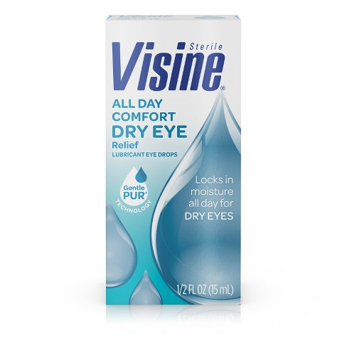Visine All Day Comfort Dry-Eye Relief Lubricant Eye Drops - .5 fl oz - image 1 of 4