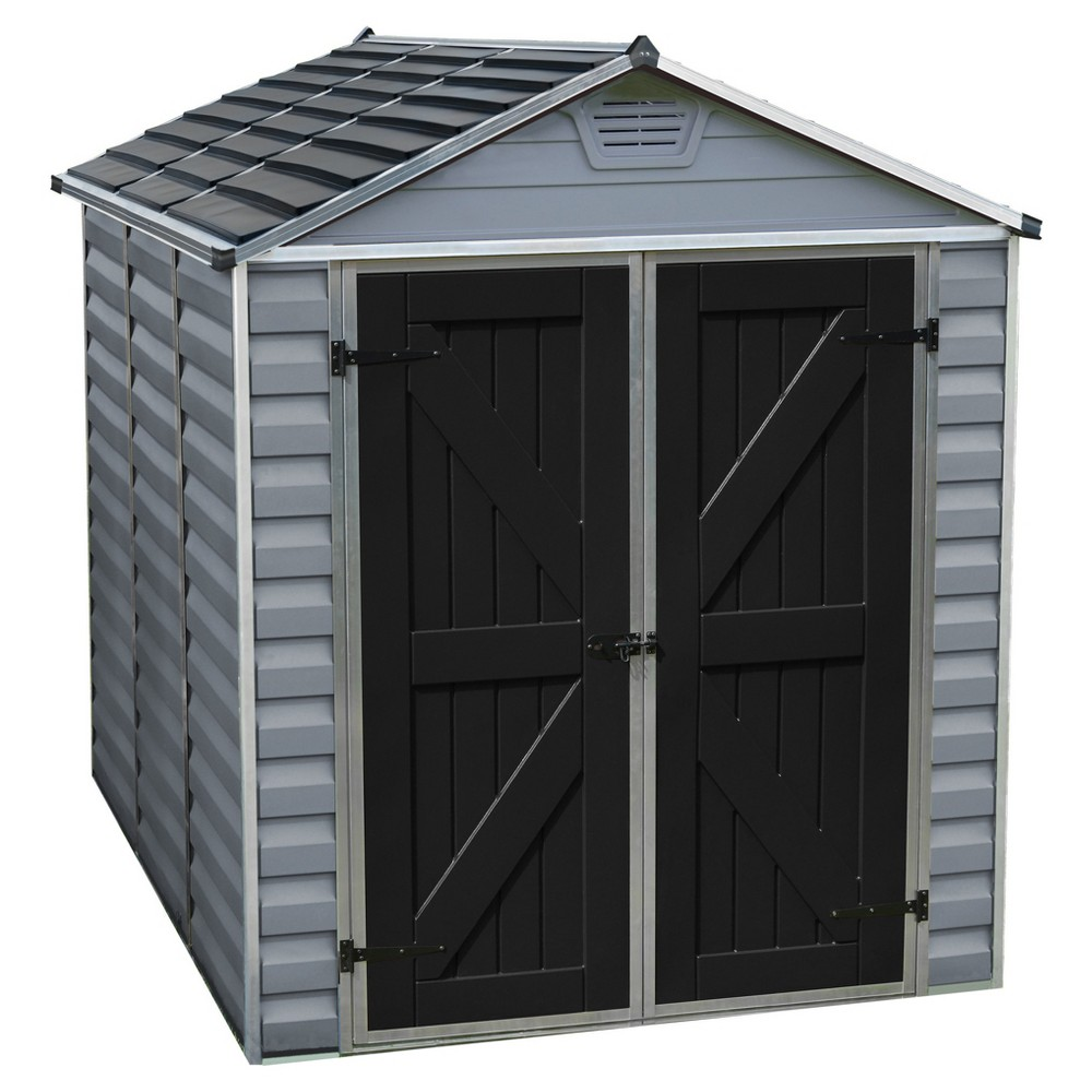 Image of 6'X8' Skylight Shed - Gray - Palram
