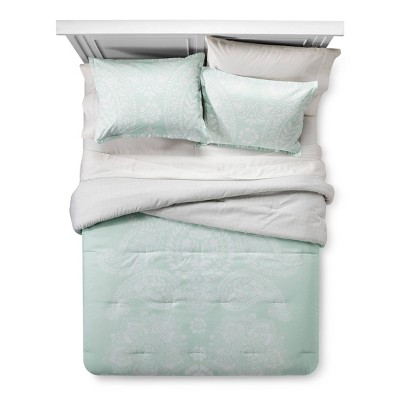 Mint Paisley Comforter Set (Full/Queen)- Xhilaration™