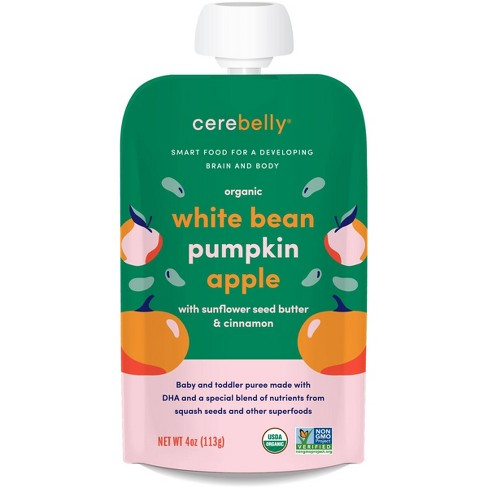 Cerebelly Organic White Bean Pumpkin Apple Baby Food Pouch - 4oz - image 1 of 3