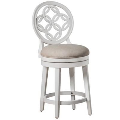 Savona Swivel Counter Height Barstool White - Hillsdale Furniture