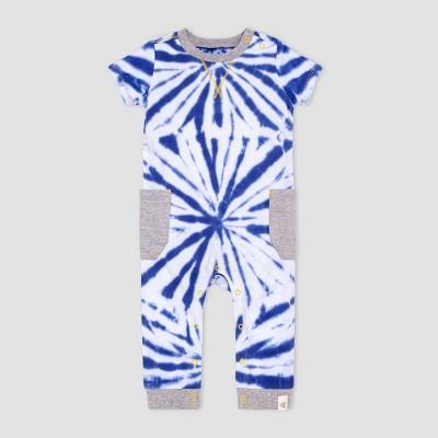 Burt's Bees Baby® Baby Boys' Tie-Dye Jumpsuit - Blue