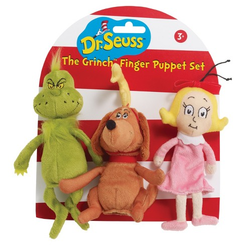 Manhattan Toy Dr. Seuss The Grinch Finger Puppet Set - image 1 of 2