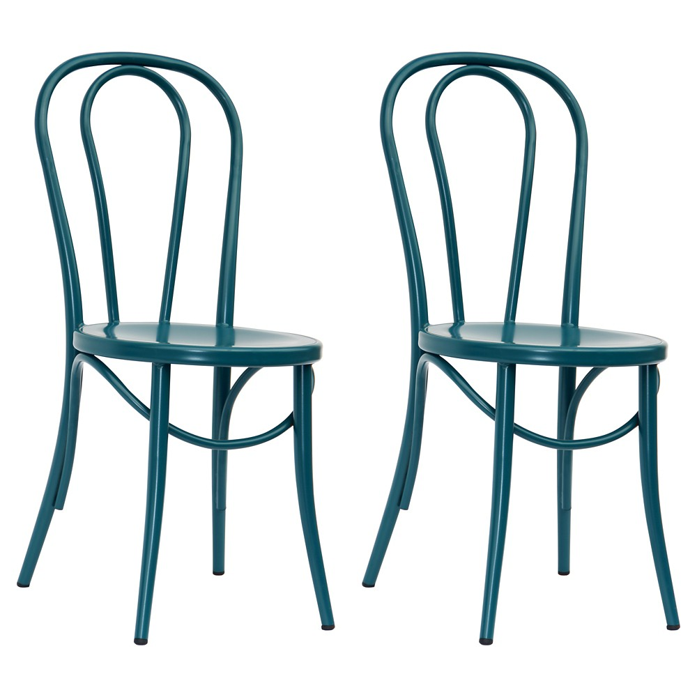 Emery Metal Bistro Chair - Sarcelle Teal (Set of 2) - Threshold