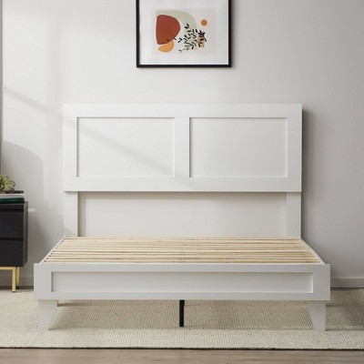 Lily Double Framed Wood Platform Bed with Headboard - Brookside Home