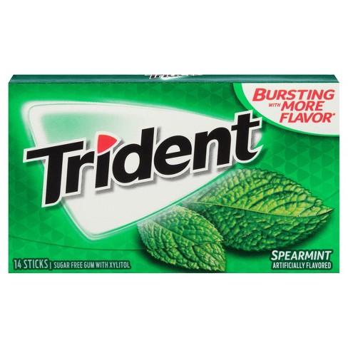 Trident Spearmint Sugar Free Gum 14ct Target