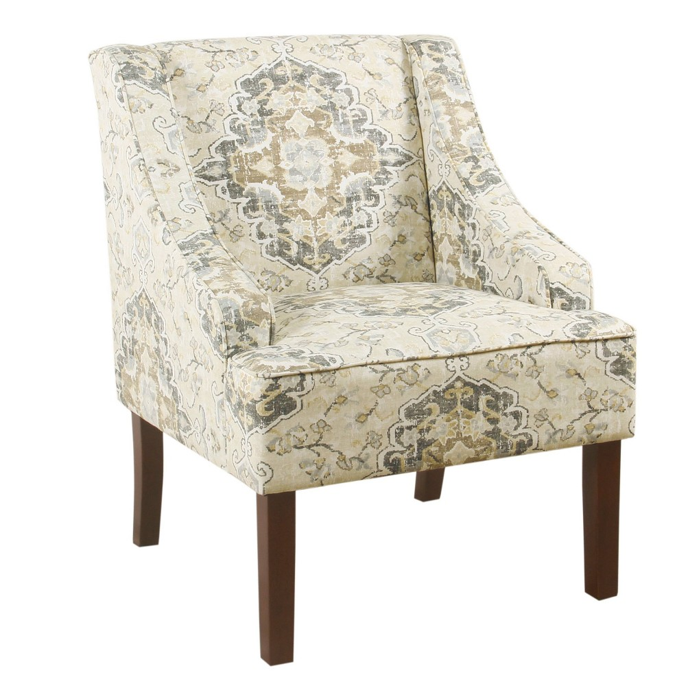 Image of Classic Swoop Arm Chair Antique Black - HomePop