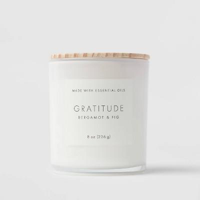 Wood Lidded Glass Wellness Grateful Candle - Project 62™