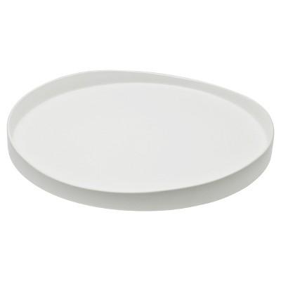 10 Strawberry Street Matte Wave Round Stoneware Serving Tray 12.8  White