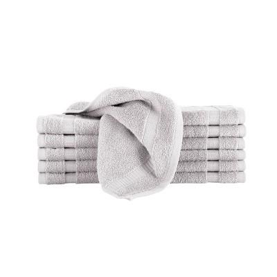 12pc Villa Washcloth Set Silver - Royal Turkish Towels