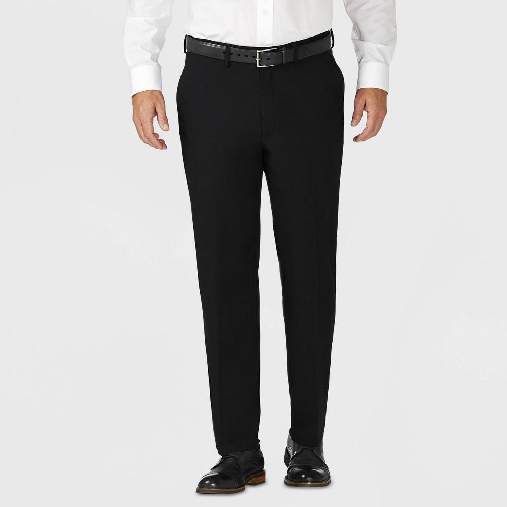 Haggar H26 Men's Tailored Fit Premium Stretch Suit Pants - Black 32x30