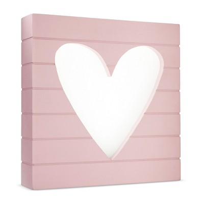 LED Light Box Heart - Cloud Island™ - Pink