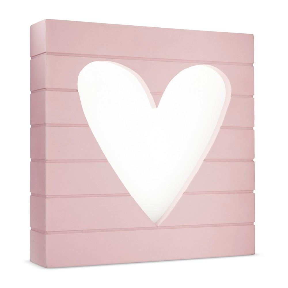 Image of LED Light Box Heart - Cloud Island - Pink