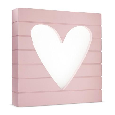 LED Light Box Heart - Cloud Island™ - Pink - image 1 of 1