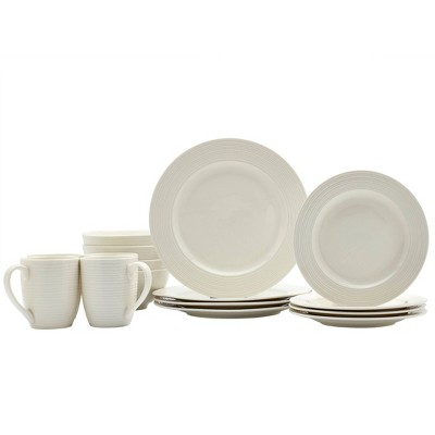 16pc Porcelain Embossed Contempo Dinnerware Set - Tabletops Gallery