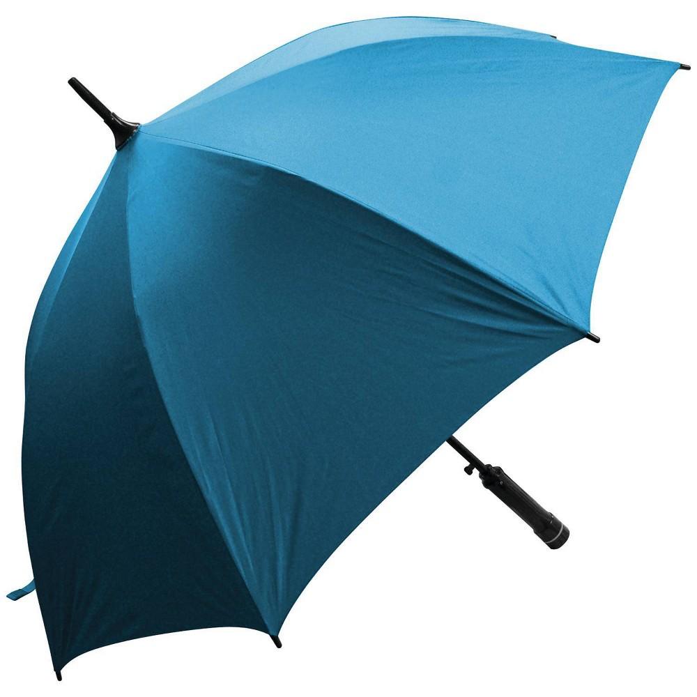 Image of Creative Outdoor Distributor Bree-Z Brella Stick Umbrella with Built-in Fan - Blue