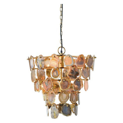 "Agate Metal Chandelier 18""H - 3R Studios - image 1 of 2"