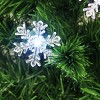 Northlight 3' Prelit Artificial Christmas Tree Color Changing Fiber Optic with Snowflakes - image 2 of 2