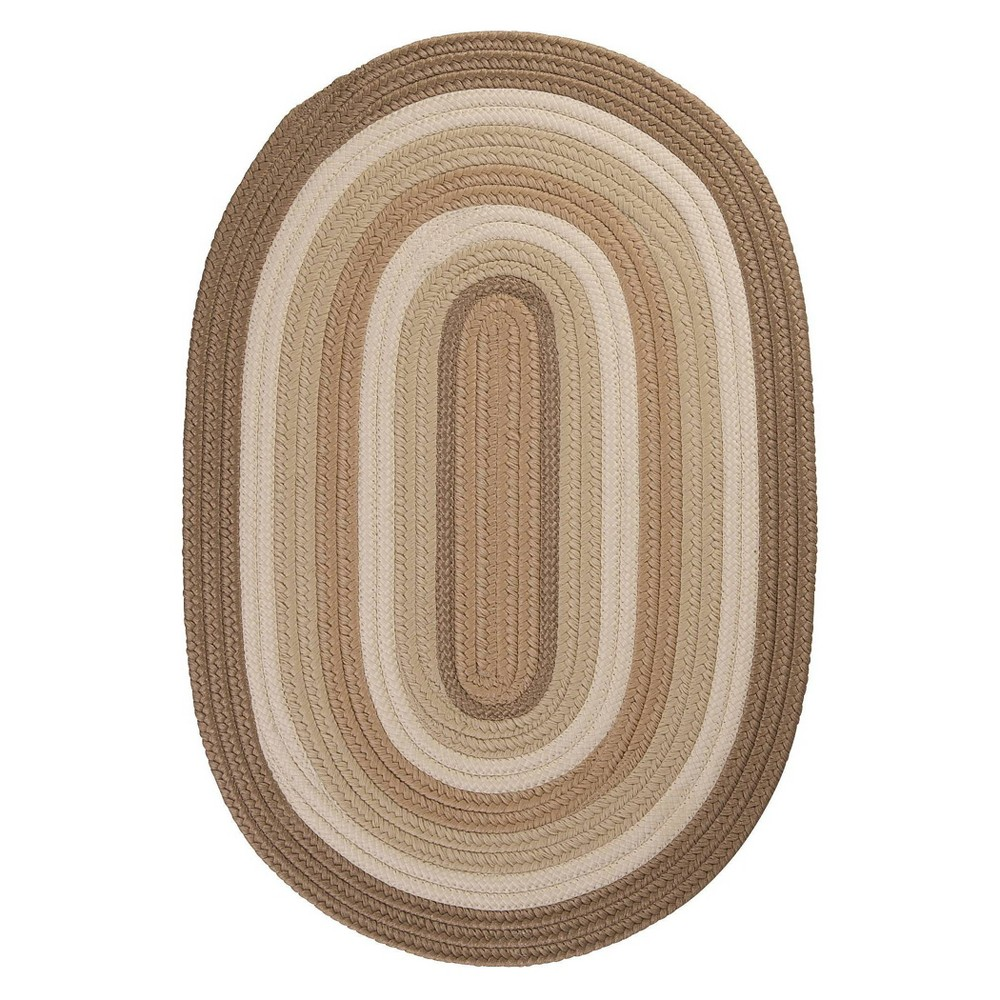 Oval Mountain Top Braided Area Rug Natural