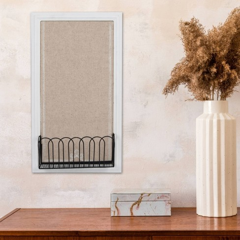 """10"""" x 18"""" Pin Board with Metal Basket - New View - image 1 of 1"""