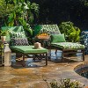 """80"""" x 23"""" x 3"""" Dupione Paradise Chaise Lounge Outdoor Cushion Green - Pillow Perfect - image 2 of 3"""