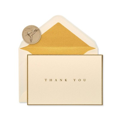 16ct Signature 'Thank You' Cards Gold Border - PAPYRUS