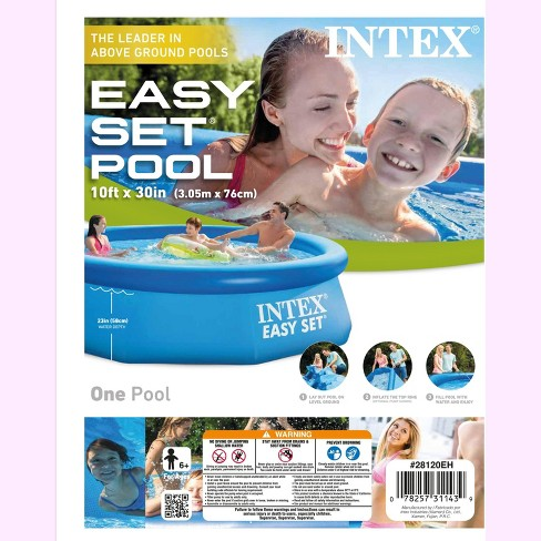 Intex 10ft x 30in Above Ground Swimming Pool & Qualco Swimming Pool  Chemical Kit