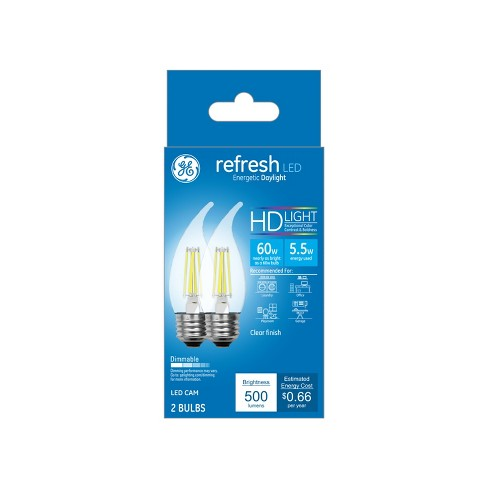 Ca Refresh Light Bulb LED Dl 60W Cam Clear 2pk - image 1 of 1